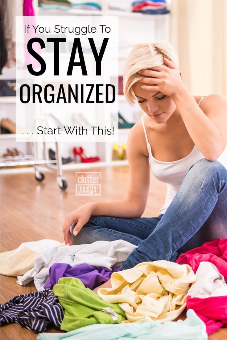 If you struggle to stay organized... start with this!