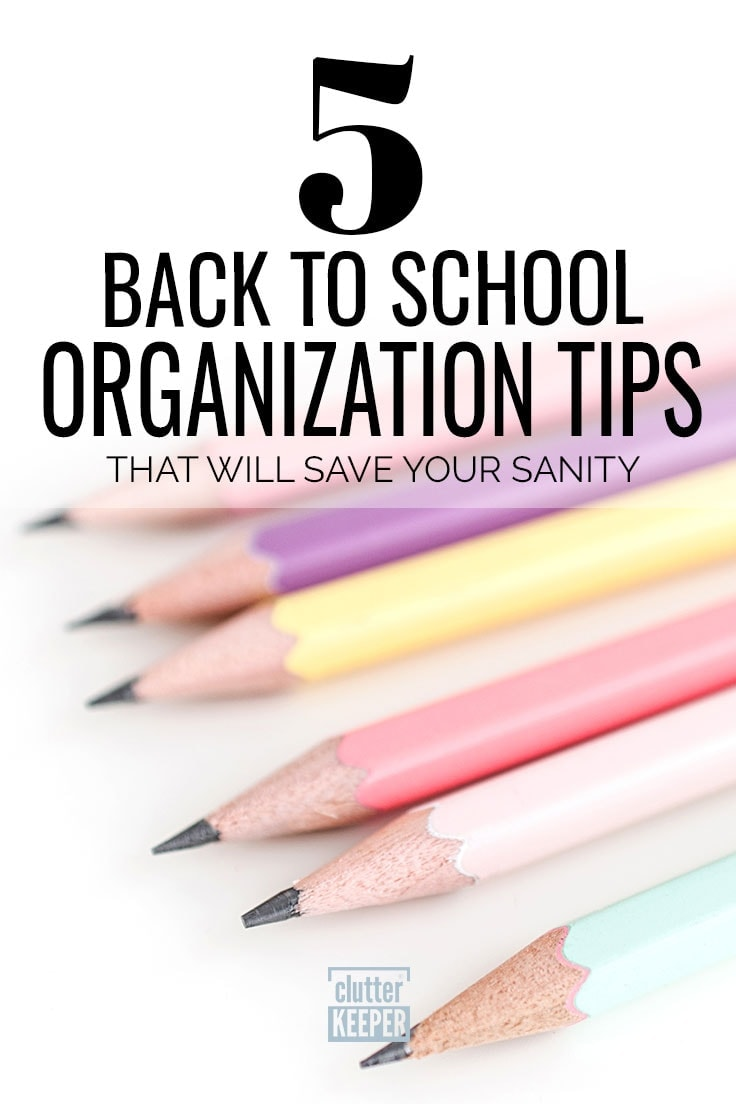 5 back to school organization tips that will save your sanity