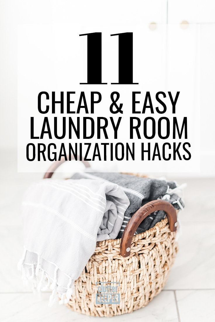 Easily turn your laundry room into a cleaning oasis. These easy tips for laundry room organization will make your small room feel like it has more space. #laundryroom #organize #hacks