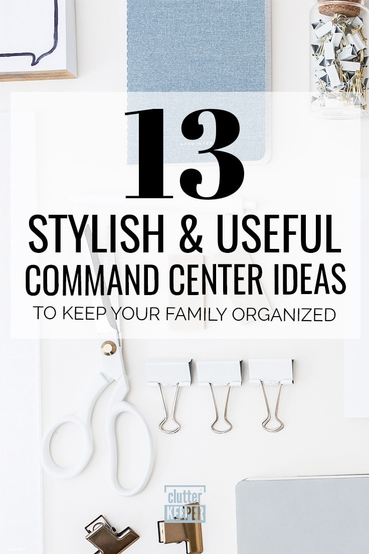 These shockingly simple family command center ideas will help you keep your home organized from the minute you walk in the door. #commandcenter #homeorganization #family