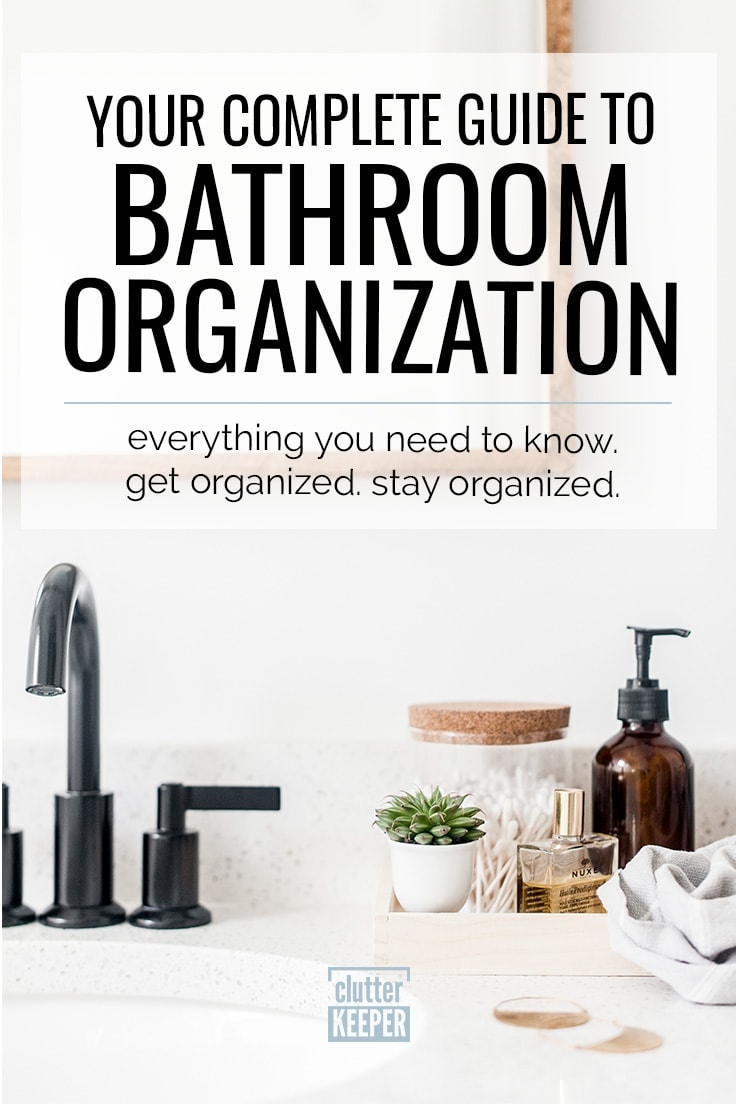 The bathroom can be your clean sanctuary. Just start with these essential bathroom organization tips and creative storage ideas to get everything from your under sink area to countertops and cabinet in top shape, even in a small apartment bathroom. There are even dollar store and DIY ideas to help with your budget!