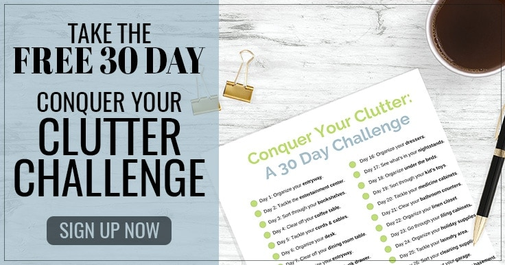 Take the Free 30 Day Conquer Your Clutter Challenge from ClutterKeeper.com