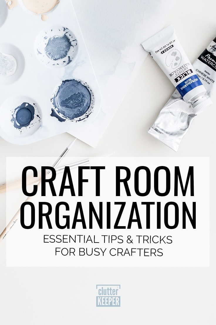 Get your craft supplies organized! With these craft room organization tips and tricks for busy crafters, you'll have the space you always dreamed of to work on your craft projects and let your creativity flourish. #craftroom #organization #craftroomorganization