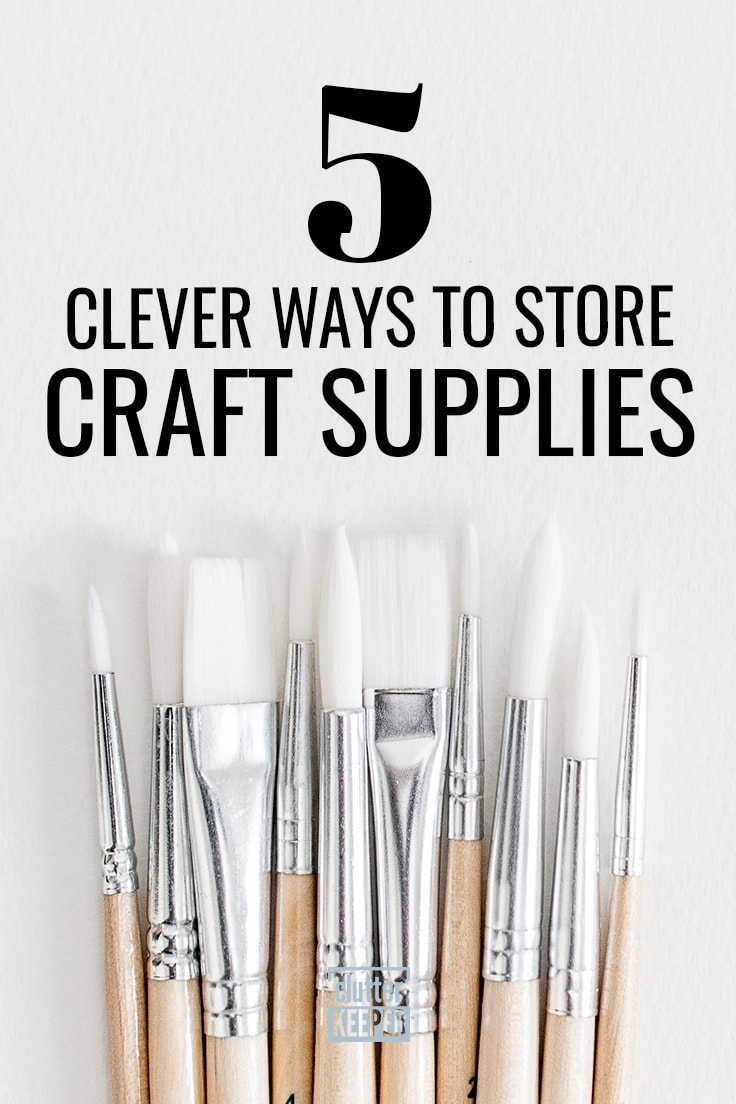 Are your craft supplies out of control? Use these craft room organization tips and clever home storage ideas to organize and tackle all the clutter in your craft room! #craftroom #organization #craftroomorganization