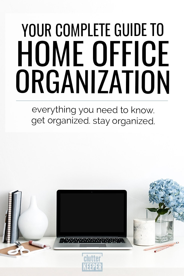 Love pretty, organized workspaces? Upgrade your office to make it organized and beautiful. Begin with these home office organization tips and ideas and you'll be more efficient when you work from home. #homeoffice #organization #workspace #officeorganization #homeofficeorganization #workfromhome #clutterkeeper