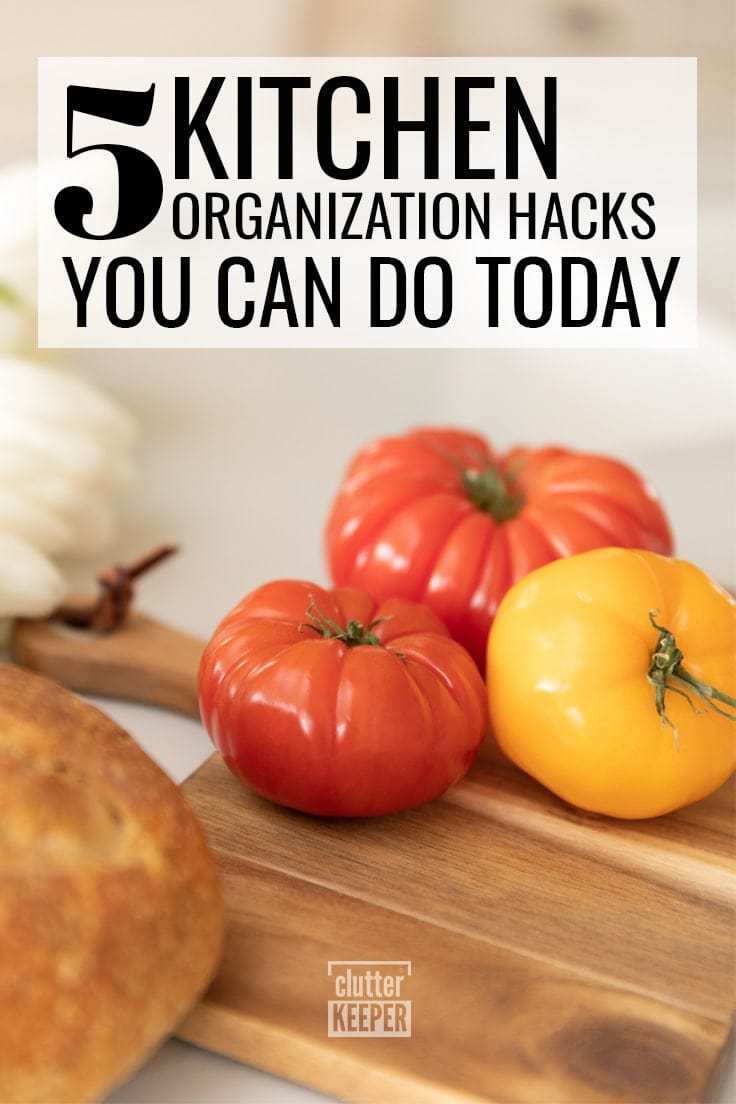 5 kitchen organization hacks you can do today