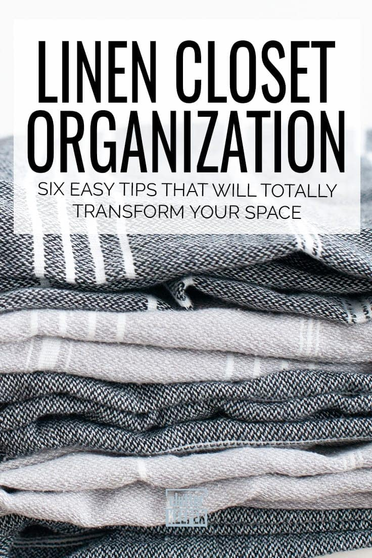 Is your linen closet too small or too deep and packed with sheets, bath towels and more? Looking to tidy up this hallway or bathroom storage area on a budget? You need these 5 easy organizing tips to win and create a clean closet. #linencloset #bathroomorganization #organization #organized #bathroomstorage #declutter #clutterkeeper