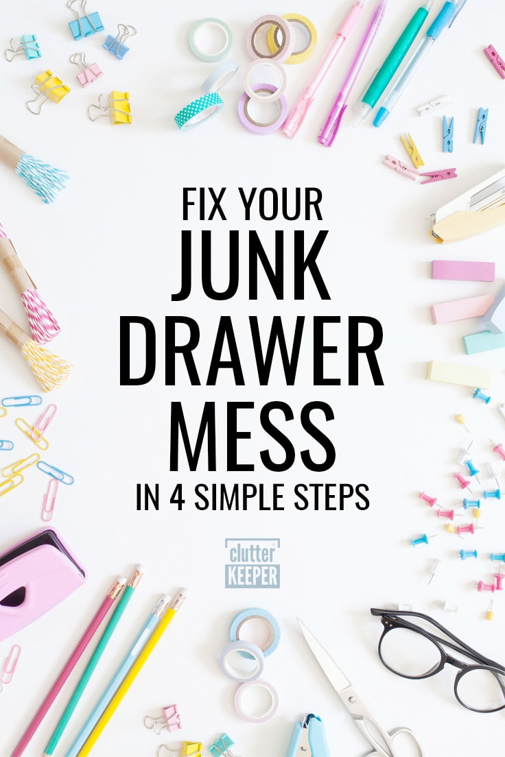 Fix your junk drawer mess in 4 simple steps
