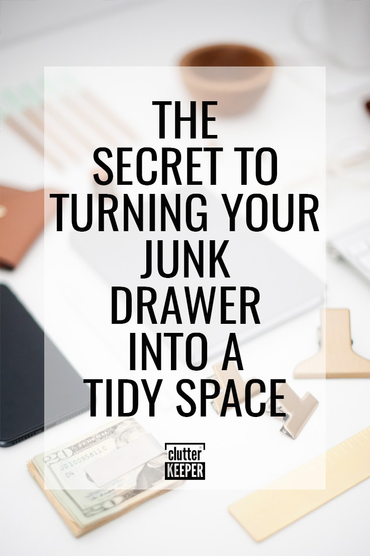 The secret to turning your junk drawer into a tidy space