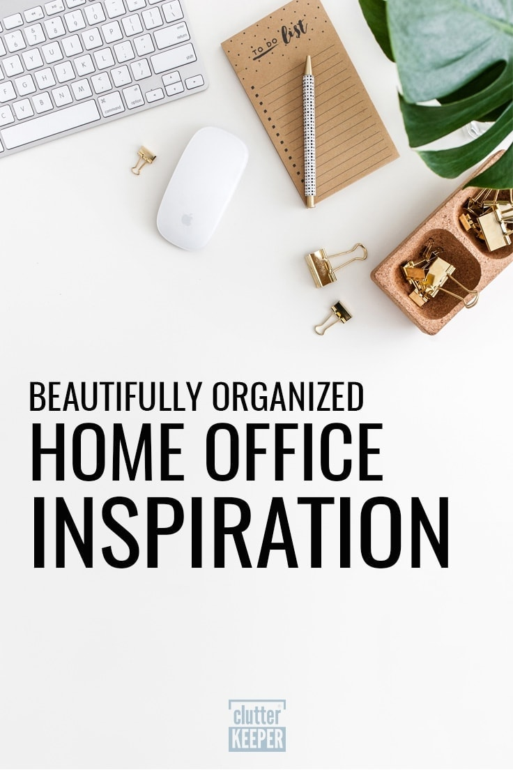 Beautifully Organize Home Office Inspiration