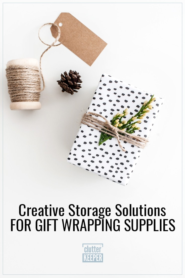 Creative storage solutions for gift wrapping supplies