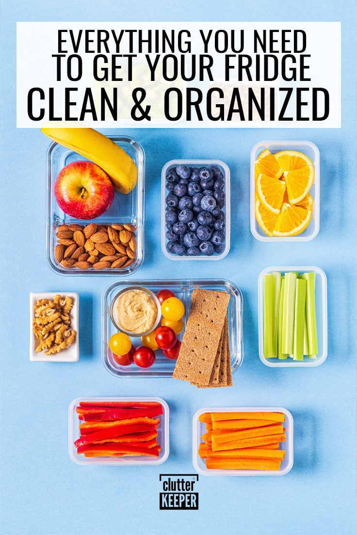 Everything you need to get your fridge clean and organized