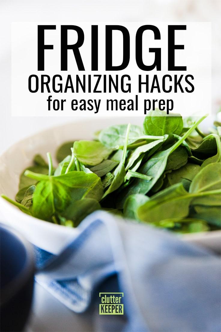 Fridge organizing hacks for easy meal prep