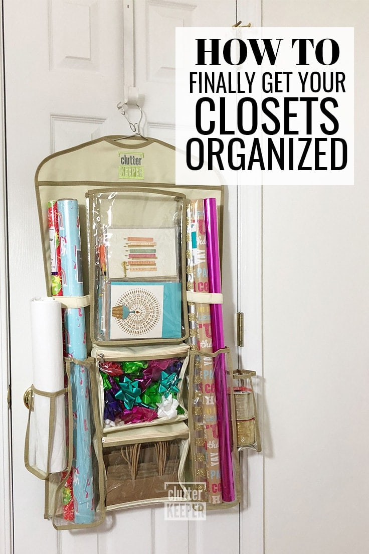 This is the ultimate guide to closet organization. If you have a small apartment closet or a large walk in and just don't know how to store all your stuff, find all your ideas and tips here. #organization #closetorganization #clutterkeeper
