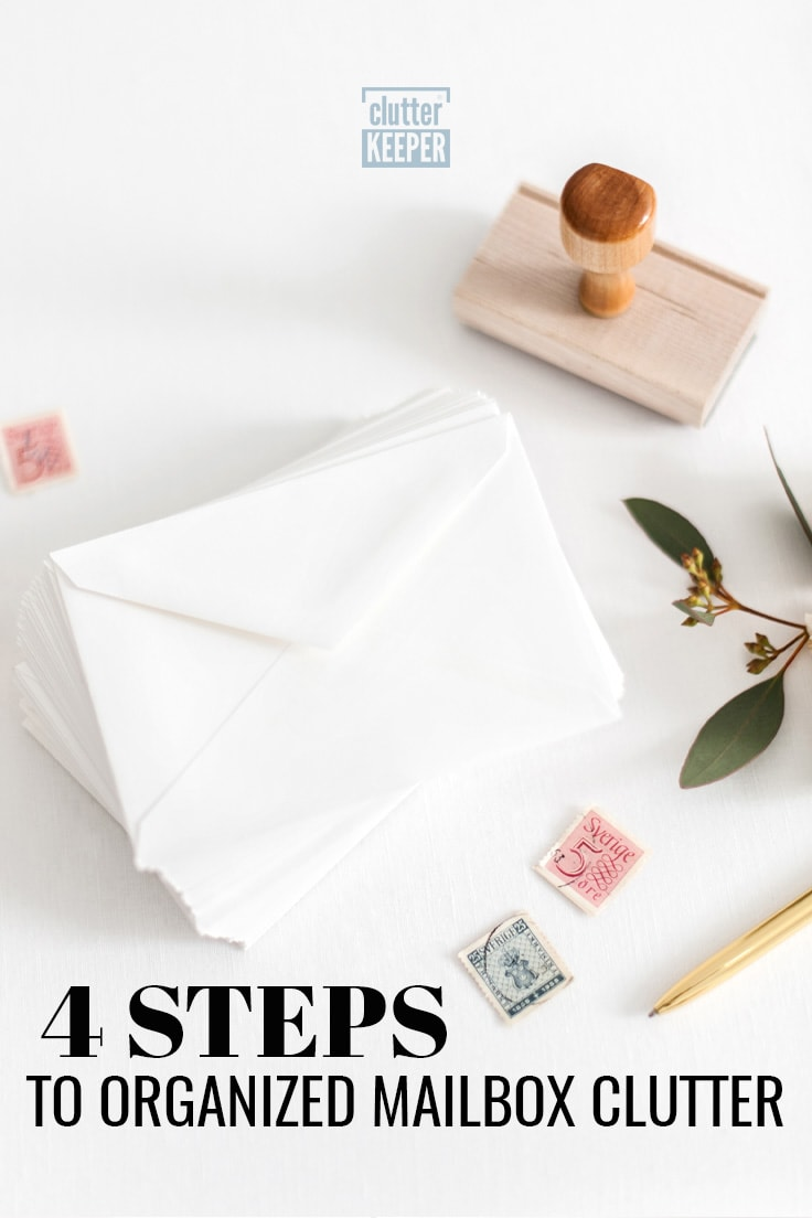 4 steps to organized mailbox clutter