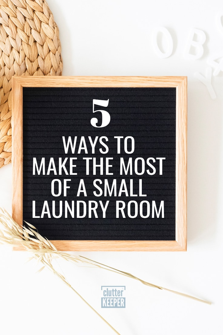 5 ways to make the most of a small laundry room