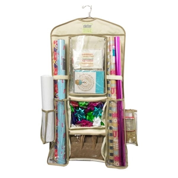Clutter Keeper® Deluxe Hanging Gift Wrap Organizer