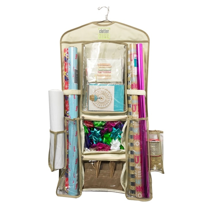 Clutter Keeper Deluxe Hanging Gift Wrap Organizer