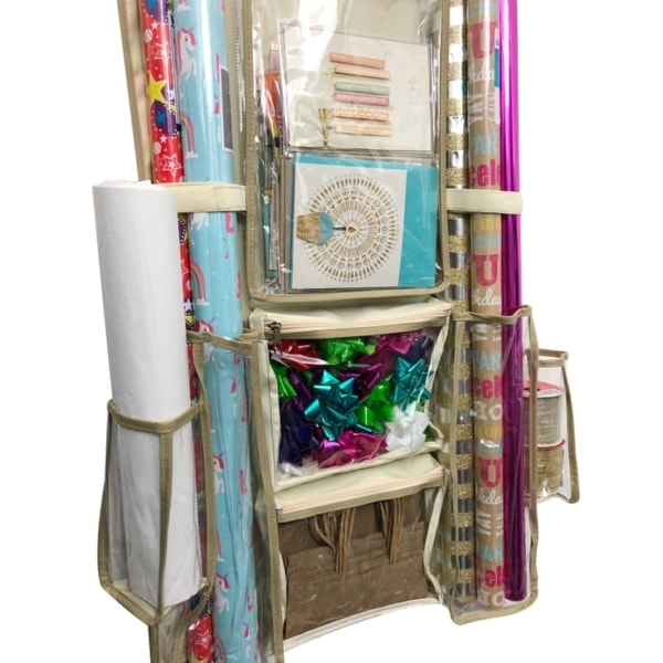 Clutter Keeper® Deluxe Hanging Gift Wrap Storage Organizer