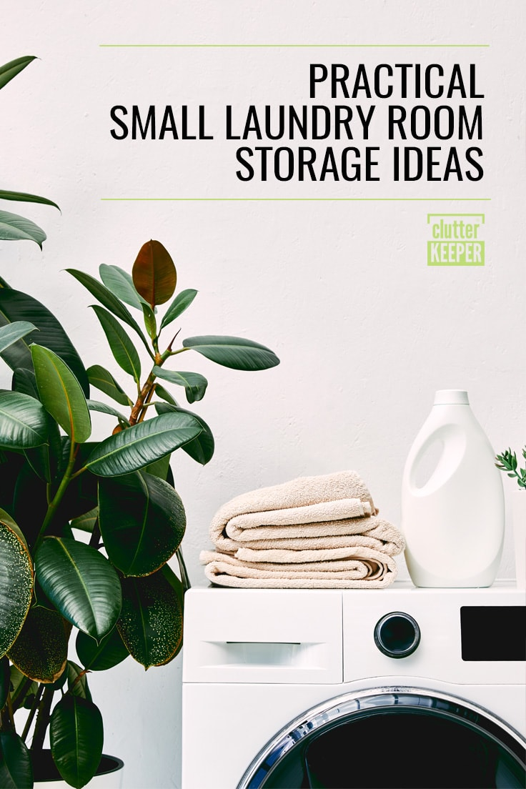Practical small laundry room storage ideas
