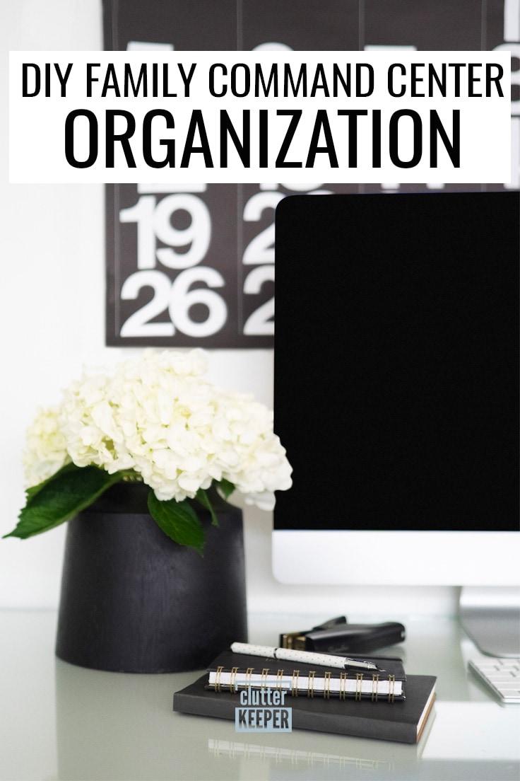 DIY family command center organization.