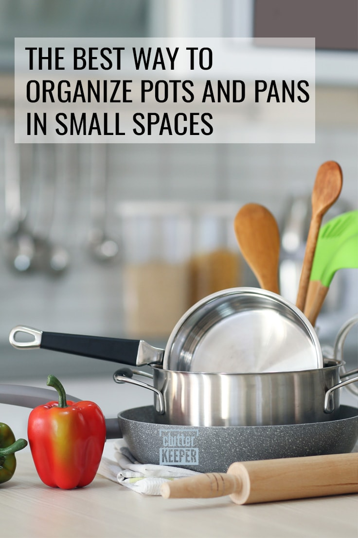 The best way to organize pots and pans in small spaces.
