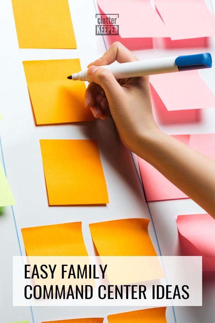 Easy family command center ideas.