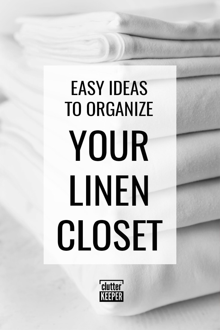 Easy ideas to organize your linen closet.