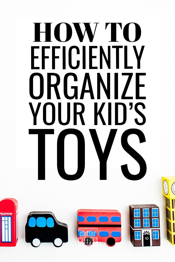 Need practical ideas for how to organize your child's toys? Here is a helpful guide for how to organize kids toys whether it's for a living room or for other small spaces - including creative storage solutions. #toystorage #playroomorganization #clutterkeeper