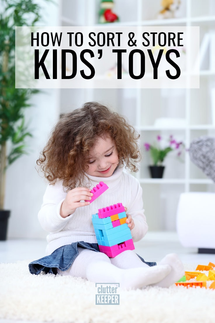 How to sort and store kids' toys.