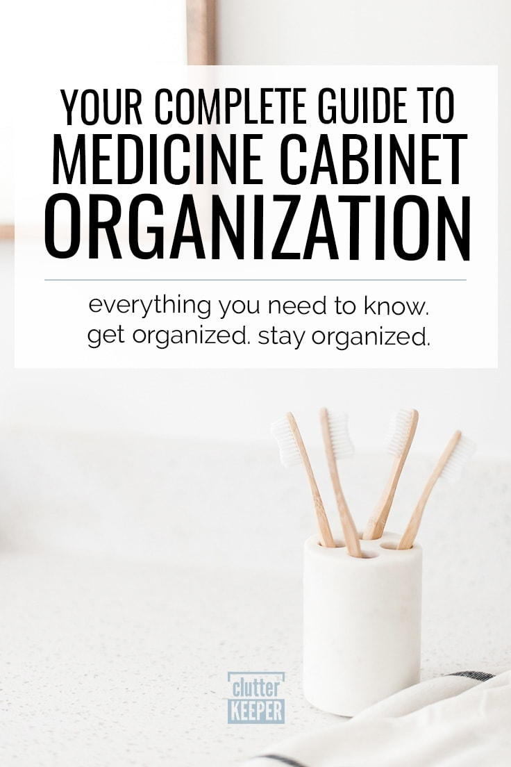 Whether you live alone or have a family, these medicine cabinet organization tips will help you organize your bathroom cabinets. #medicinecabinet #bathroomorganization #clutterkeeper