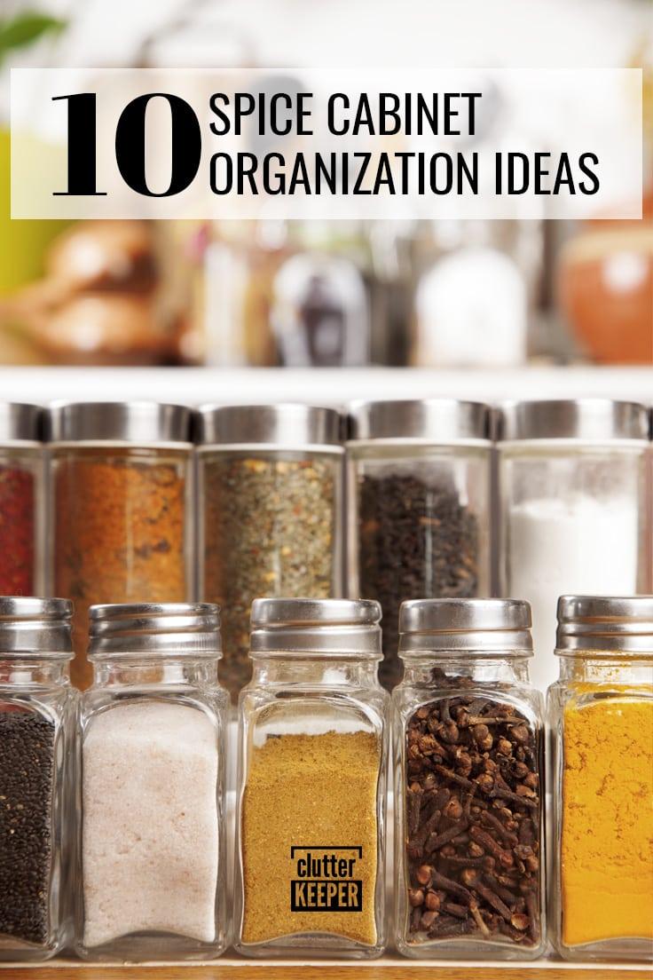 10 spice cabinet organization ideas