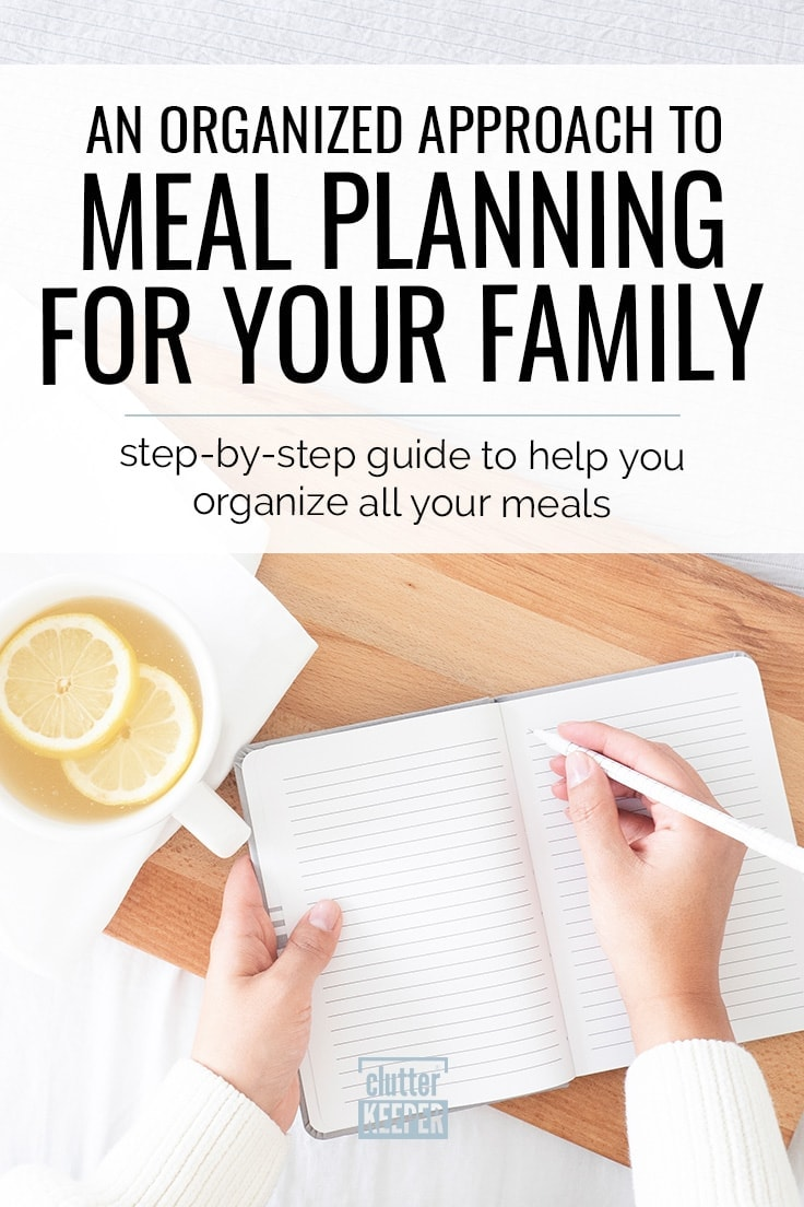 Learn how to meal plan weekly and make your life easier in this helpful article for beginners and long time planners! Find fun ways to organize your family recipes and master the art of grocery shopping. #mealplanning #meals #clutterkeeper