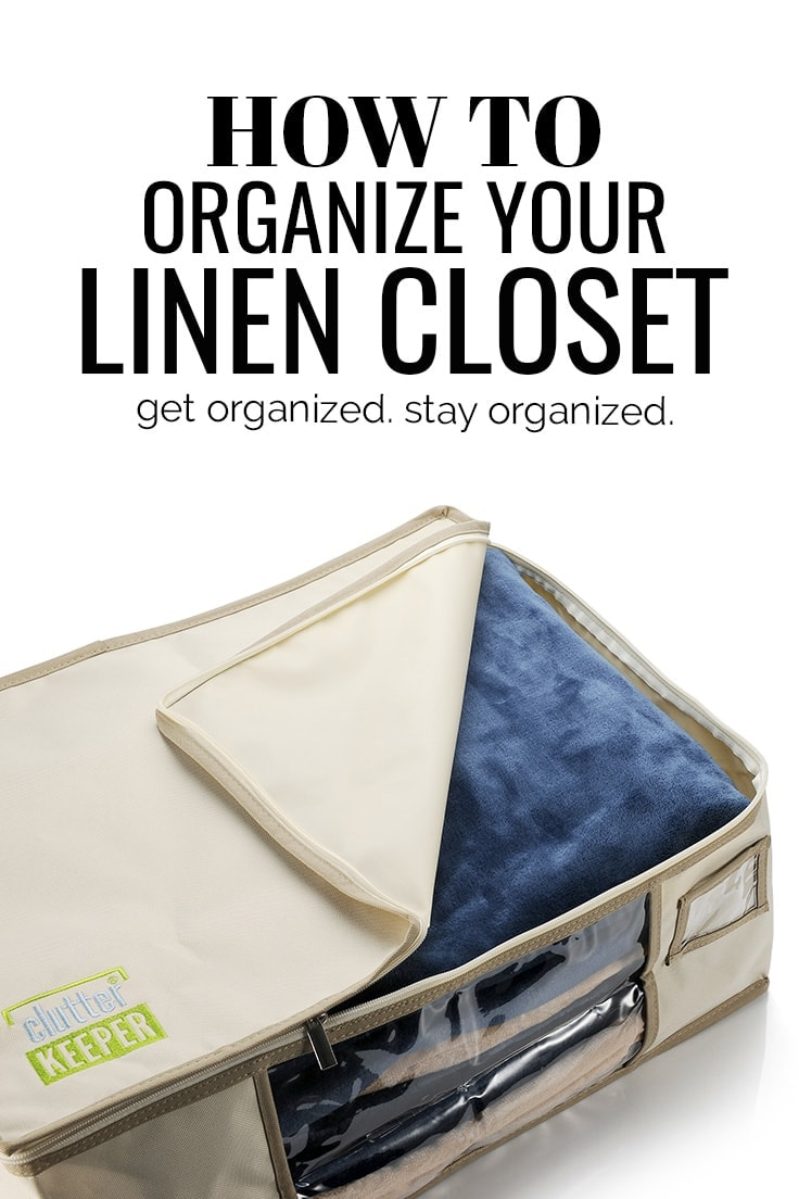 If you need a little extra space to get the door shut or a way to organize overflowing shelves, here is how to organize your linen closet once and for all!