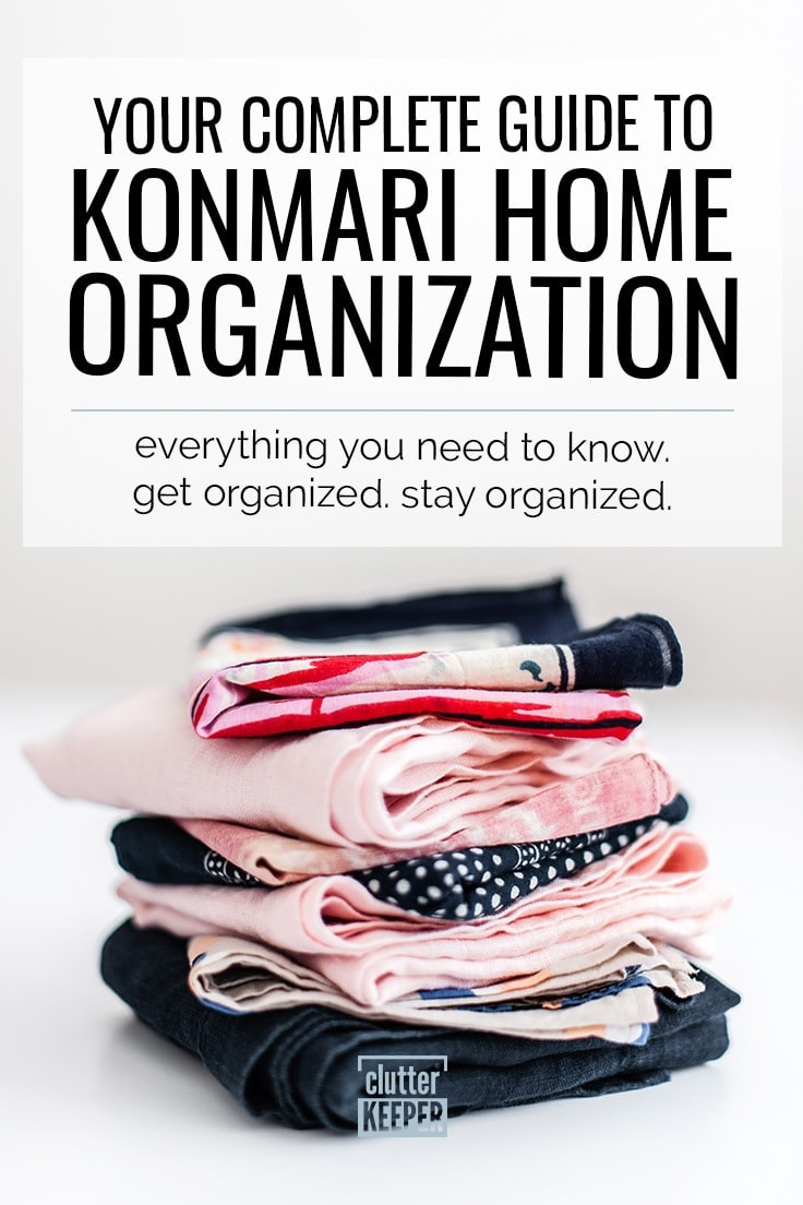 What is the KonMari Method for Home Organization? Learn all about the KonMari method - what it is, how to do it successfully, and how to declutter and keep your home organized for good. #minimalism #mariekondo #clutterkeeper