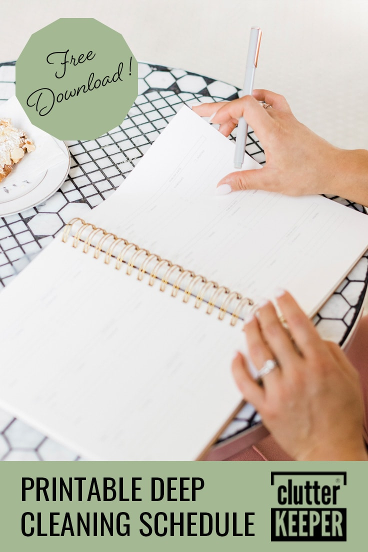 Printable deep cleaning schedule; free download.