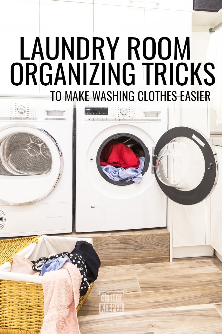 Laundry Room Organizing Tricks to Make Washing Clothes Easier