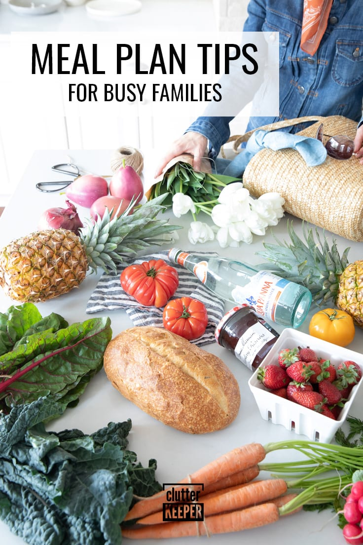 Meal plan tips for busy families.
