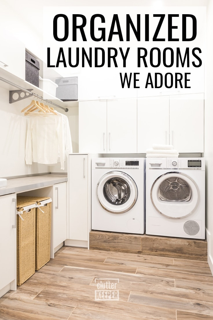 Organized Laundry Rooms We Adore