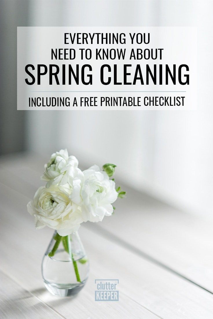 How do you find the motivation to clean? Put on some music, involve your friends, and download our free spring cleaning checklist.
