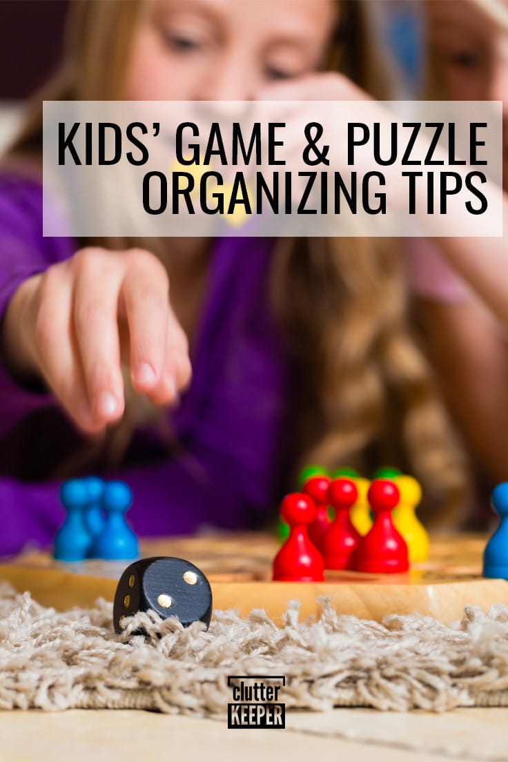 Kids' game and puzzle organizing tips.