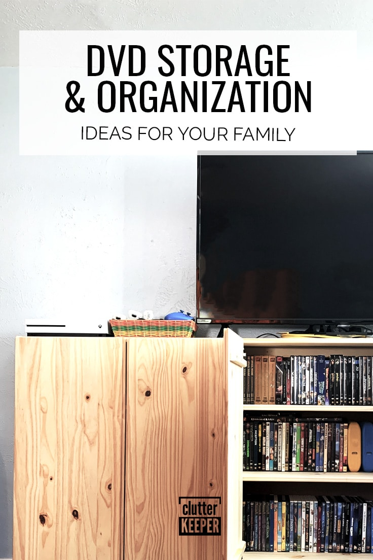 DVD storage and organization ideas for your family.