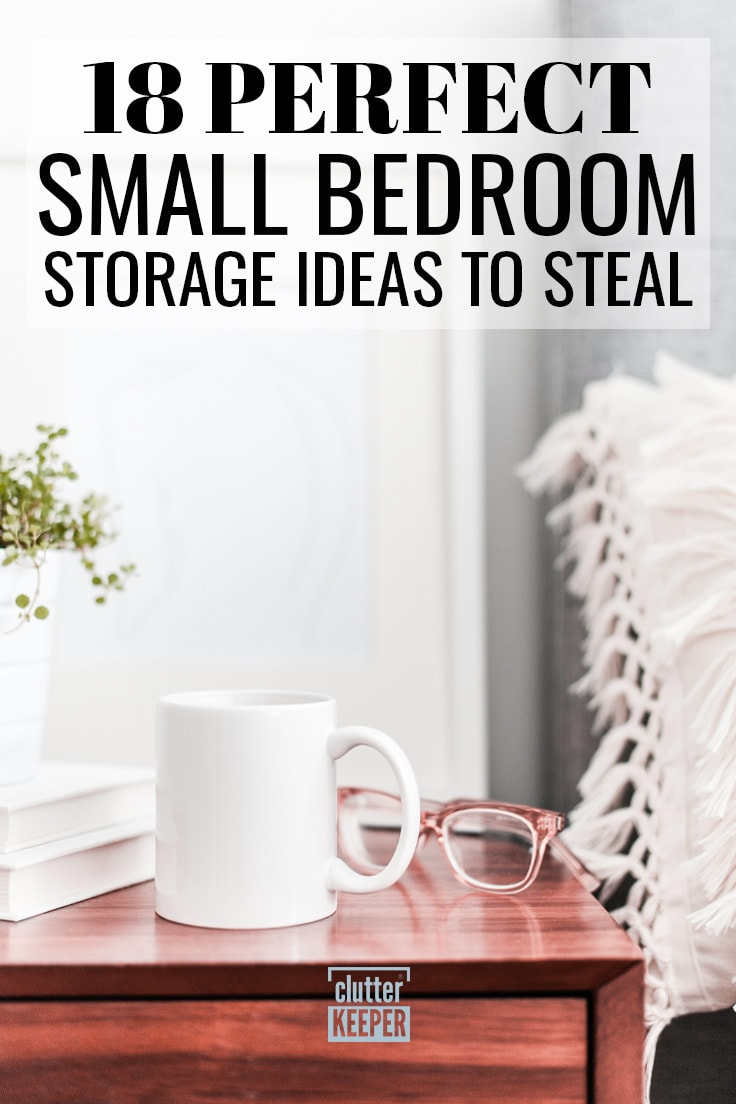 18 perfect small bedroom storage ideas to steal.