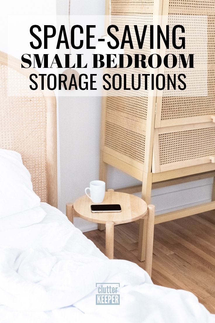 Space-saving small bedroom storage solutions.
