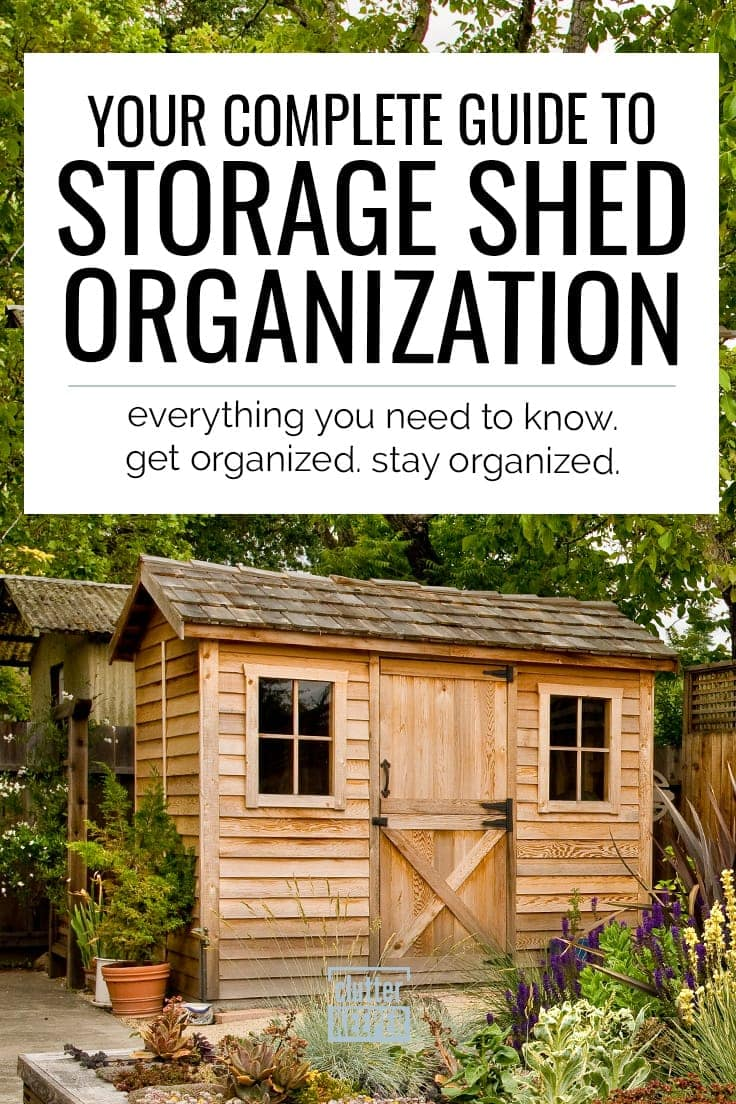 Your complete guide to storage shed organization. Everything you need to know. Get organized. Stay organized. Two backyard storage sheds side by side.