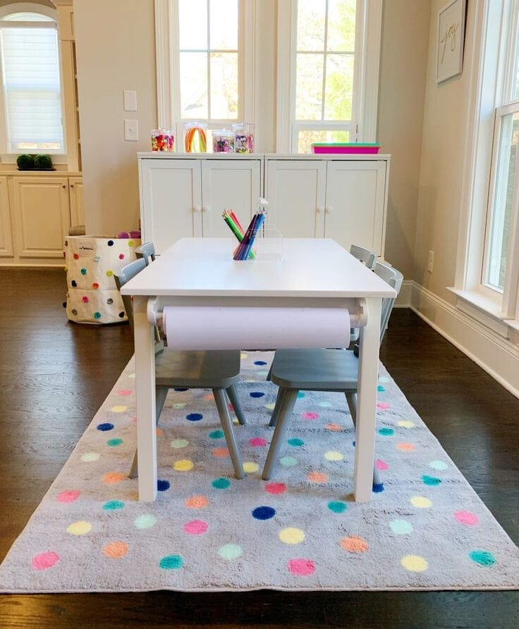 A Kids' Crafts room organized by the NEAT Method.