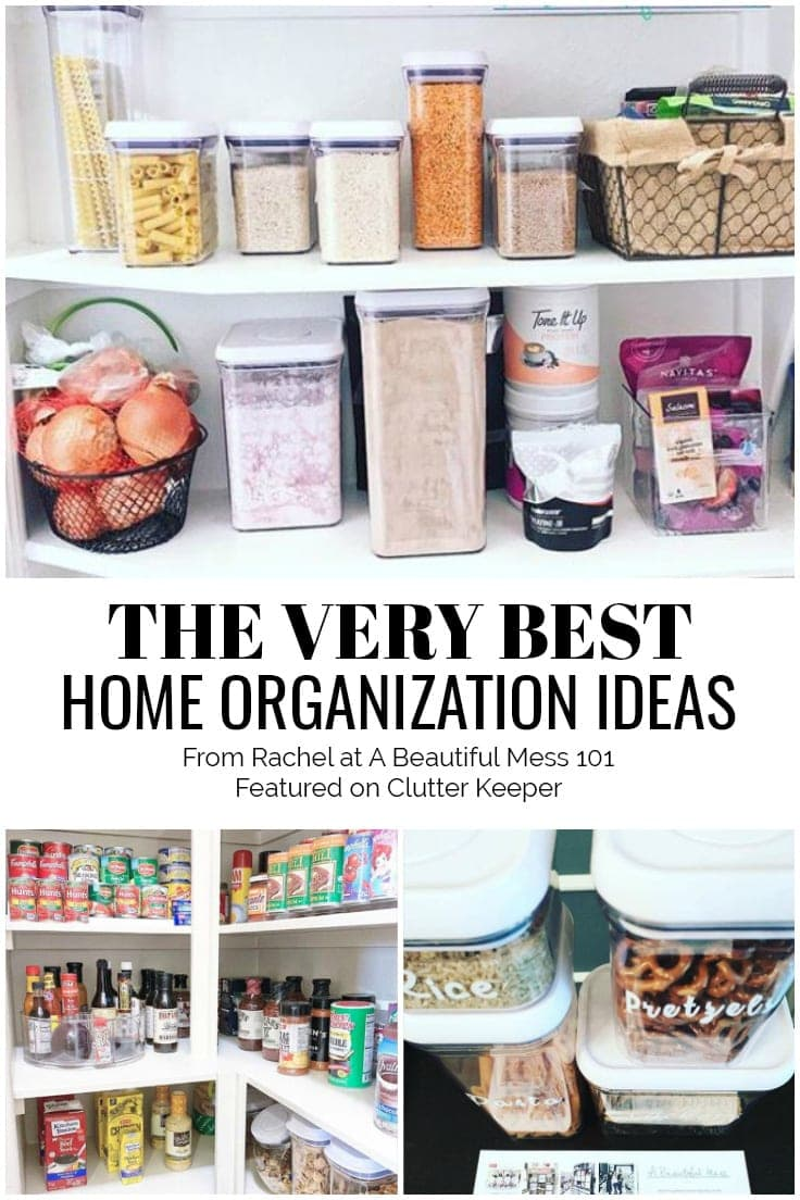The Very Best Home Organization Ideas from Rachel at A Beautiful Mess 101 Featured on ClutterKeeper.com