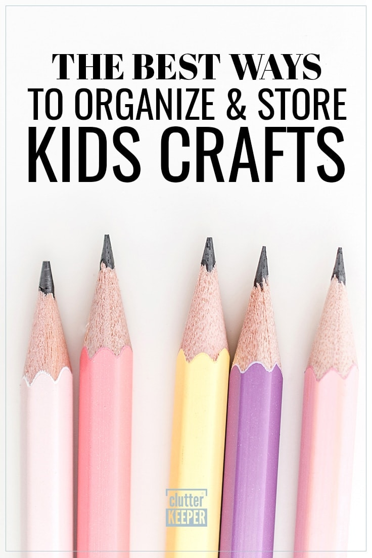 The Best Ways to Organize and Store Kids Crafts, close-up of 5 pastel colored pencils with sharp points ready for children to draw or make a craft.
