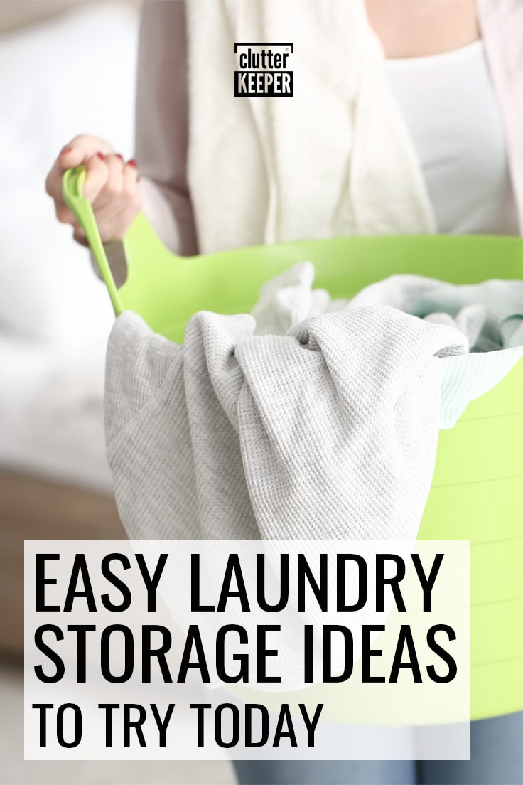 Easy laundry storage ideas to try today.