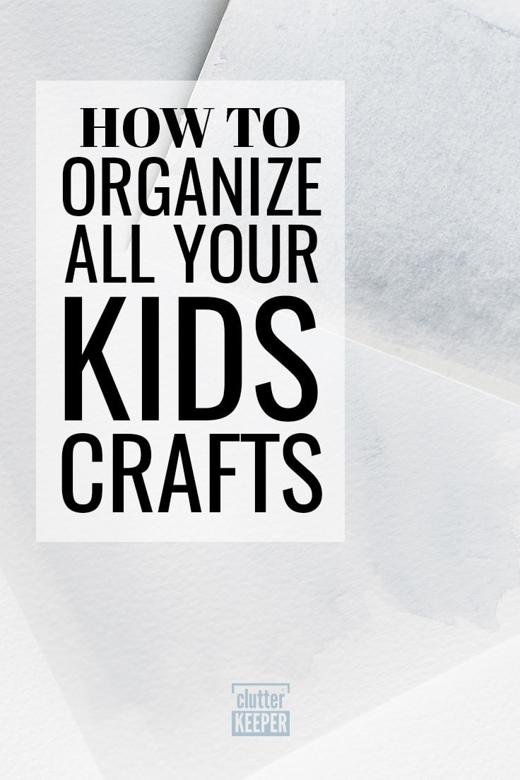 How to Organize All Your Kids Crafts, Watercolor paper covered in blue paint